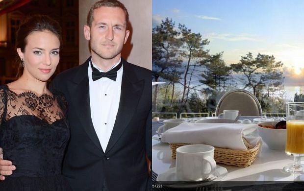 Anna Czartoryska i jej m�� odpoczywaj� w Juracie, w hotelu Niemczyckich. Co za luksusy!