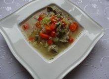 Zupa jarzynowa z mięsem i ryżem - ugotuj