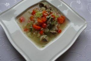 Zupa jarzynowa z mi�sem i ry�em