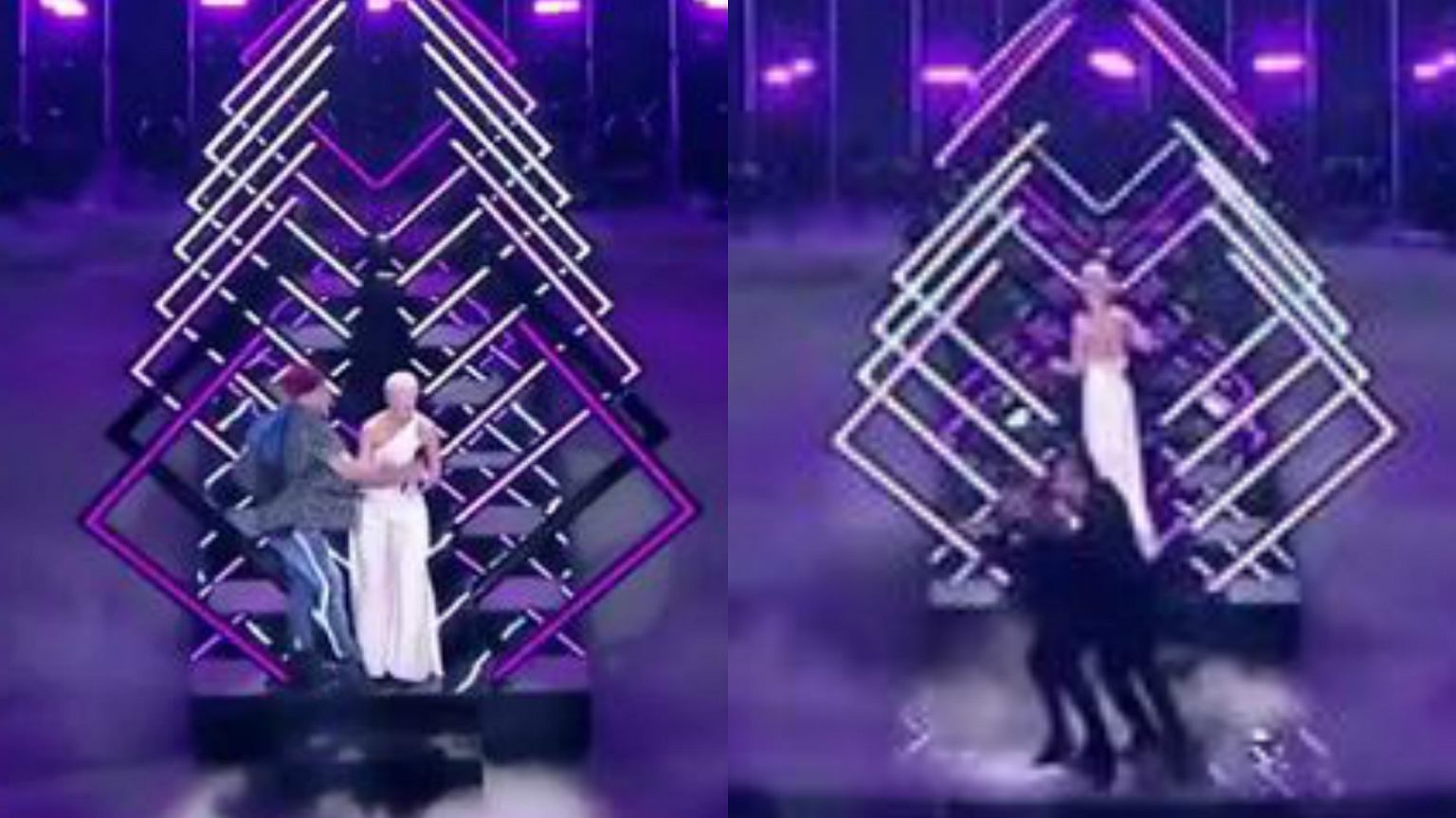 Eurowizja 2018. MEGA wpadka! Ochrona zawiodła. Podczas występu Brytyjki ktoś nagle wbiegł na scenę i zaczął krzyczeć