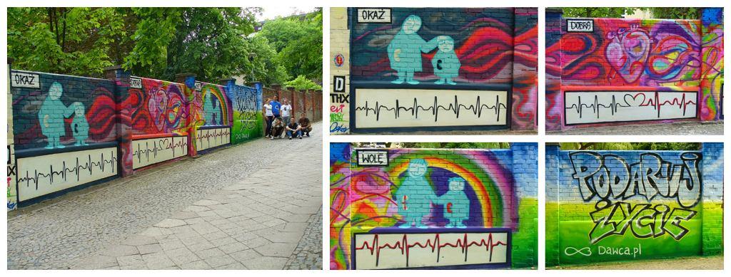 Graffiti promujące dawstwo organów (fot. dzięki uprzejmości Dawca.pl)