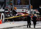 Nowy Jork: Rozpędzony samochód wjechał w przechodniów na Times Square. Są ranni, jedna osoba nie żyje