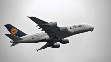 Airbus należący do linii Lufthansa