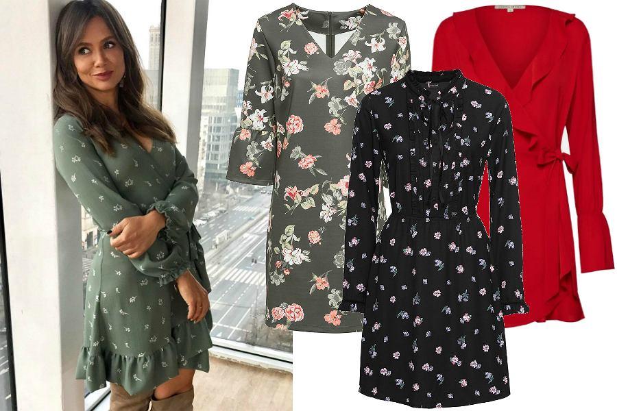 339f1c175d Sukienki z długim rękawem są idealne na jesień. Te kopertowe w stylu ...