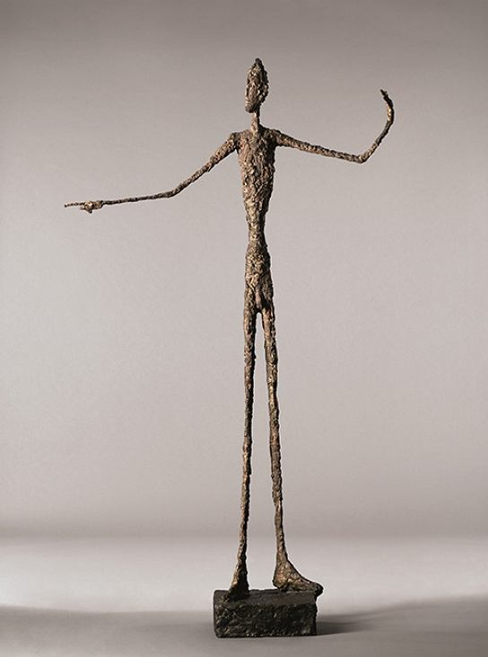 L'Homme au doigt, Giacometti / Wikipedia