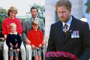 Księżna Diana, książę Harry, książę William, książę Karol