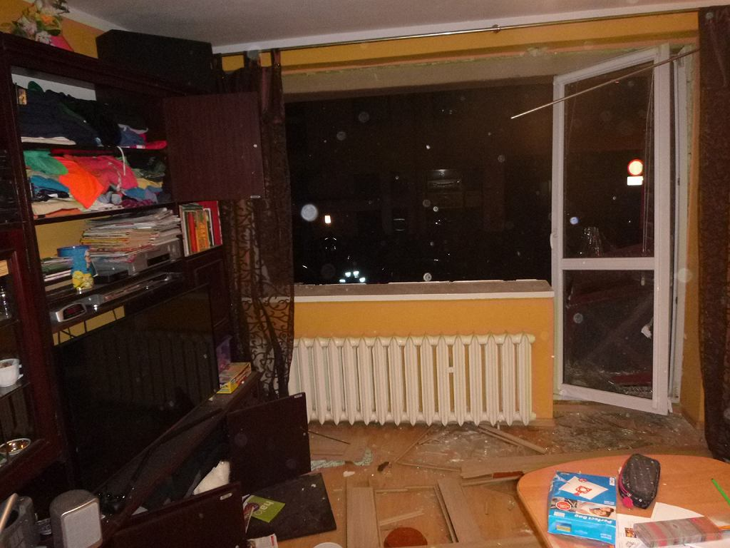 Mieszkanie przy ul. Piwnej we Wrocławiu, w którym doszło do eksplozji