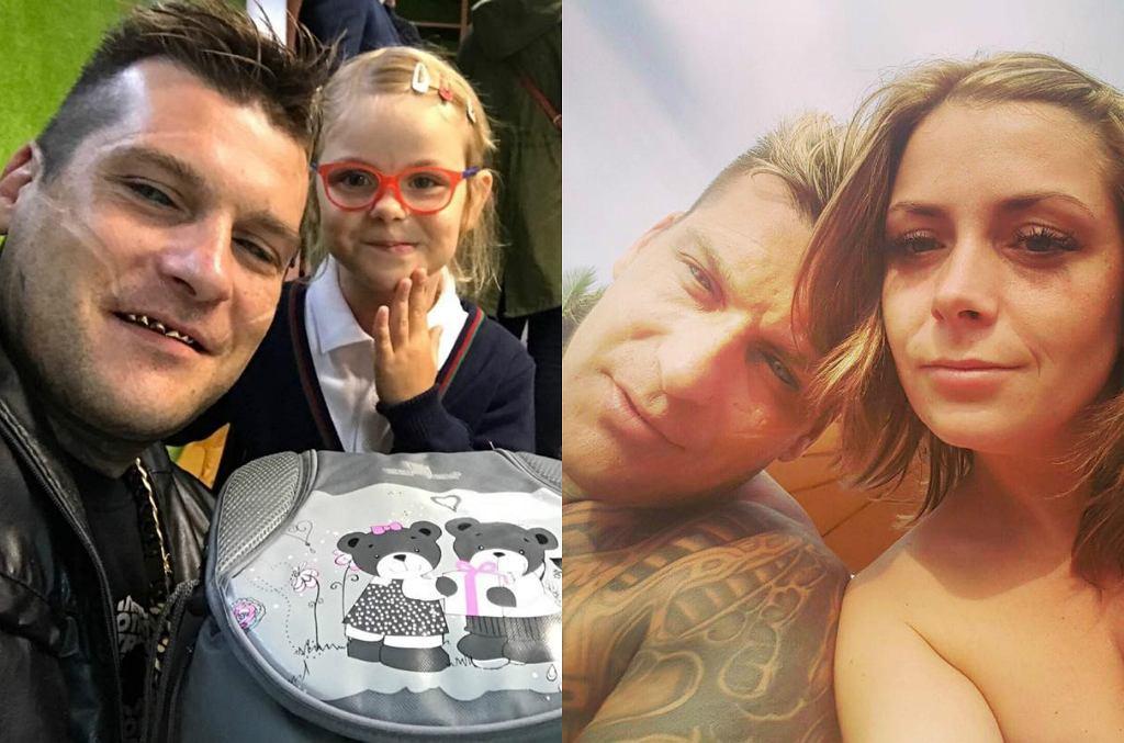 Popek z córką i partnerką