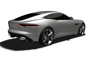 Jaguar F-Type Coupe - szkice patentowe