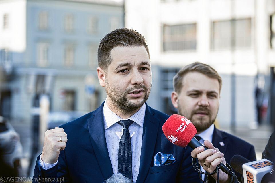 Konferencja prasowa Patryka Jakiego w Warszawie
