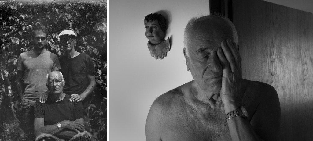 Po lewej zdjęcie trzech Plewińskich (od góry najmłodszy to Filip, obok Maciej, na dole Wojciech) (fot. Tomasz Wójcicki). Po prawej zdjęcie Wojciecha wykonane przez Filipa