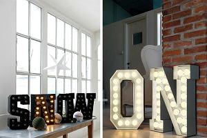 TREND: Podświetlane litery