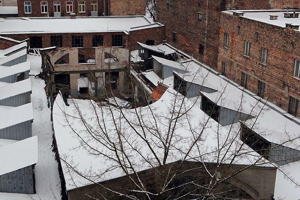 Zwalona hala fabryki H. Zielezi�skiego przy ul. Konopackiej 17