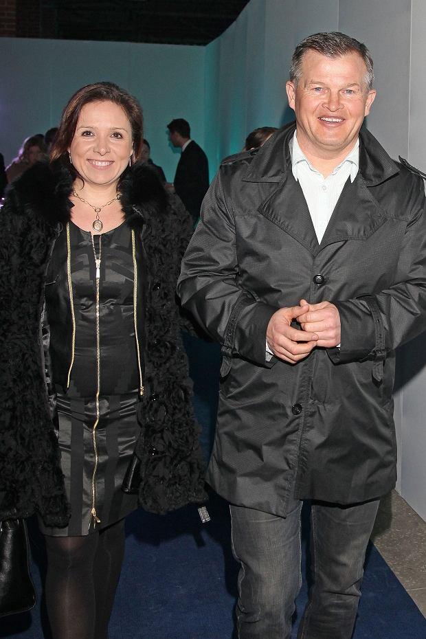 Irek Bieleninik z żoną