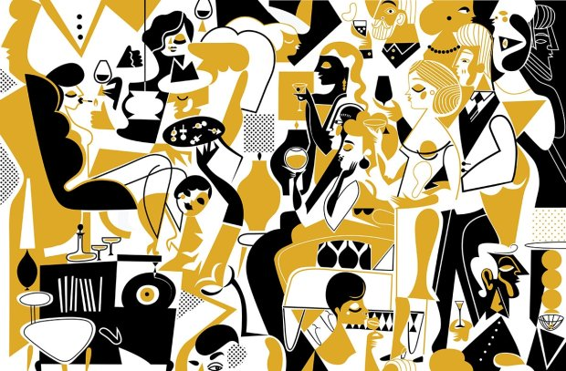 ''Koktailparty'' - ilustracja Kasi Boguckiej