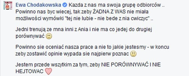Anna Lewandowska, Ewa Chodakowska