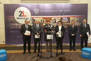 Podsumowanie 2 lat rządów PiS. Minister Rafalska o 500 +