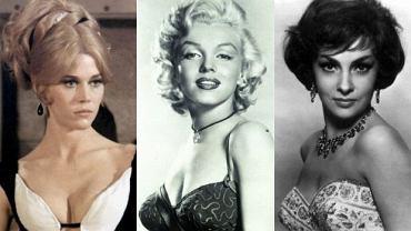 Jane Fonda, Marylin Monroe, Gina Lollobrigida.