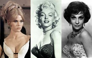Jane Fonda, Marylin Monroe, Gina Lollobrigida