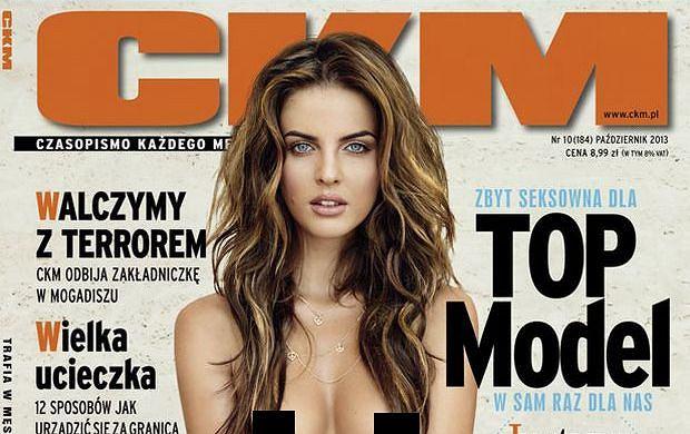 "Justyna Pawlicka toples na ok�adce ""CKM"". Najseksowniejsza z ""Top model"" kusi kszta�tami"