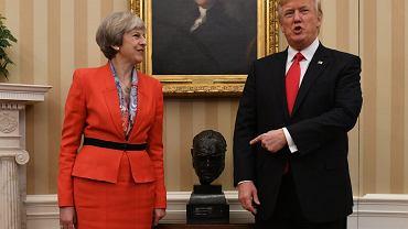 Spotkanie premier Theresy May z Donaldem Trumpem w Białym Domu w 2017r.