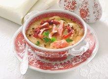 Zupa czosnkowa z szynk� - ugotuj