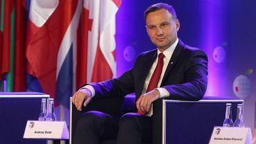 Andrzej Duda podczas Forum Ekonomicznego w Krynicy