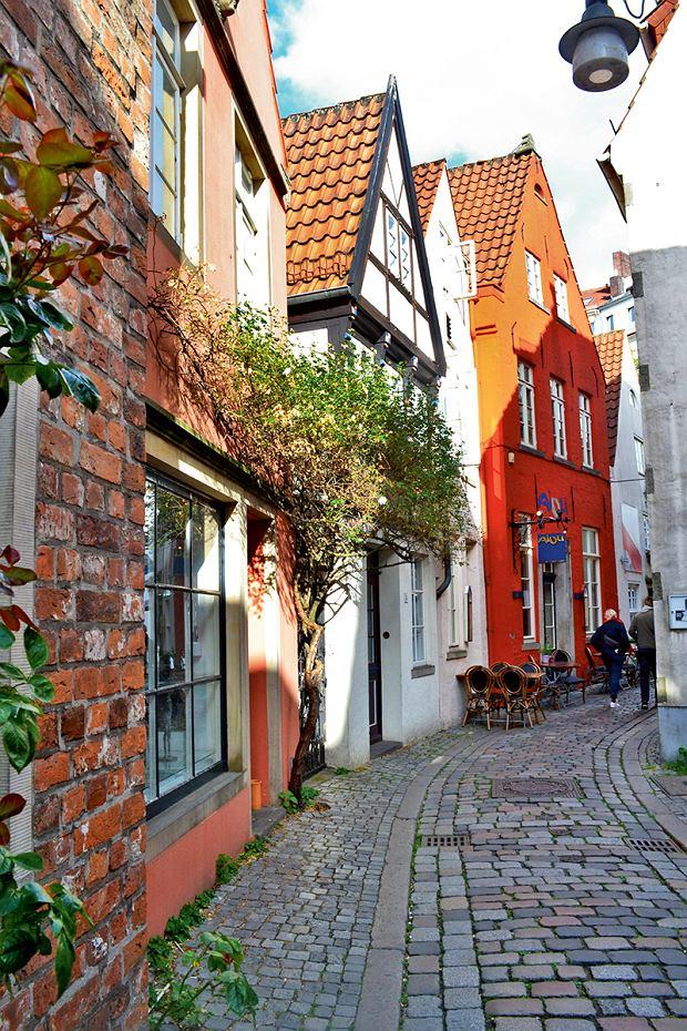 Brema, uliczki w dzielnicy Schnoor