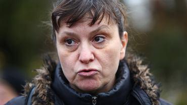 Ewa Stankiewicz pod Sejmem