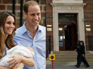 Ksi�na Kate i Ksi��� William z dzieckiem