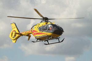 Wypadek przy stacji, l�dowa� helikopter, 9-latka w szpitalu