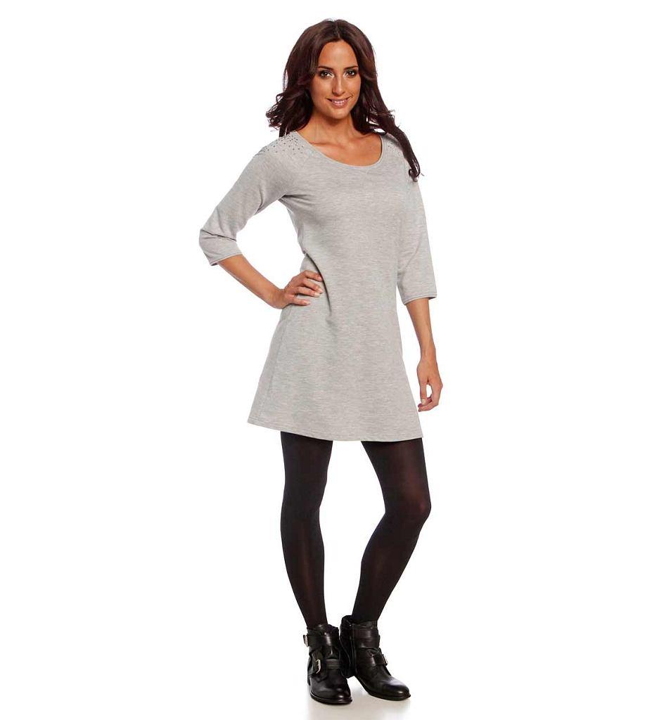 9eee80ed71 Najpiękniejsze szare sukienki z długim rękawem