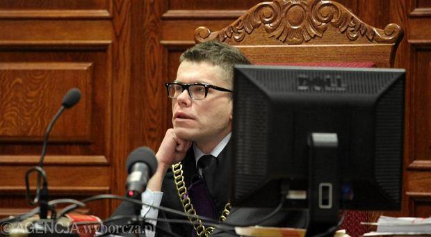Sędzie Igor Tuleya podczas ogłaszania wyroku ws. warszawskiego kardiochirurga Mieczysława G.