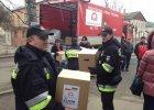 Ukraina: konw�j z polsk� pomoc� humanitarn� dotar� do Charkowa