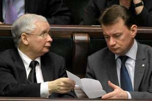PiS o ta�mach PO: Premier Tusk chowa si� za plecami marsza�ek Sejmu