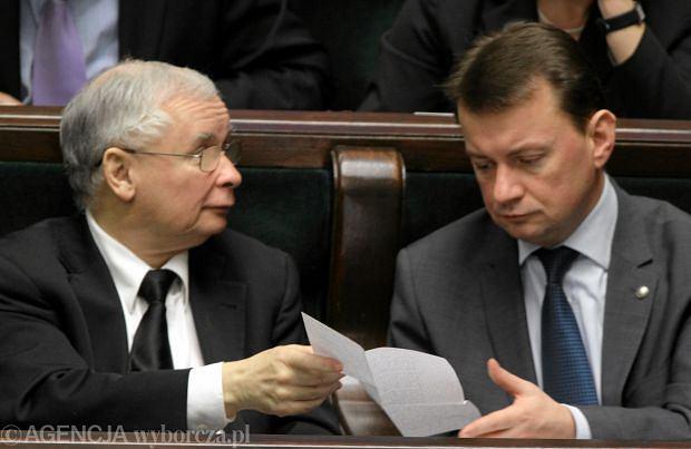 Jaros�aw Kaczy�ski i Mariusz B�aszczak