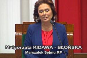 """Kidawa-B�o�ska nowym marsza�kiem Sejmu. """"Dzi�kuj� za ten zaszczyt"""""""