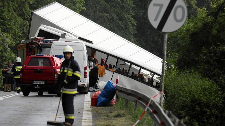 Wypadek na zakopiance w Tenczynie