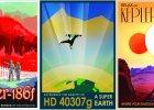 NASA zach�ca do odwiedzania planet pozas�onecznych za pomoc� plakat�w w stylu retro. S� rewelacyjne