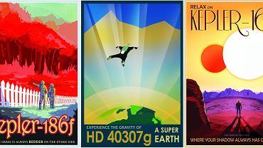 """Plakaty """"Exoplanet Travel Bureau"""""""