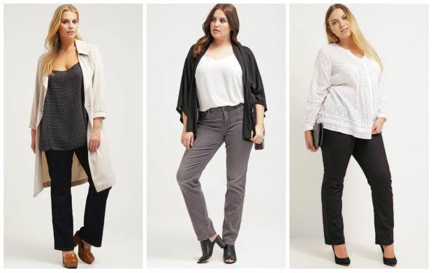 Modne jeansy dla noszących rozmiar 42+
