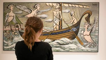 Wystawa 'Syrena herbem twym zwodnicza' w tymczasowym pawilonie Muzeum Sztuki Nowoczesnej
