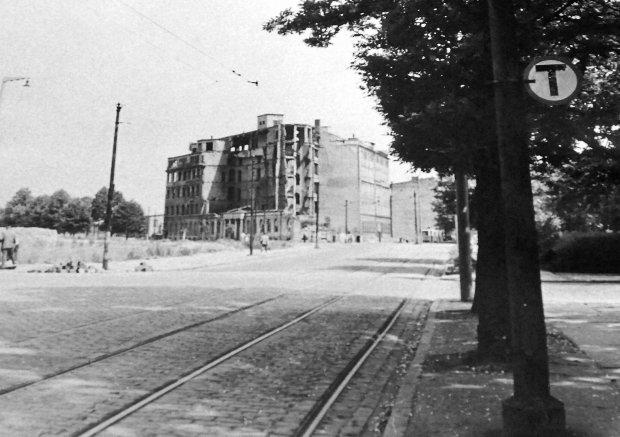 Centrum Szczecina tuż po wojnie
