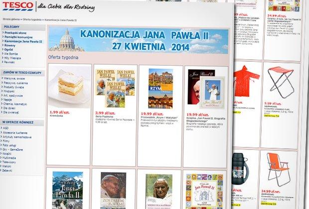 Oferta Tesco na kanonizcję Jana Pawła II