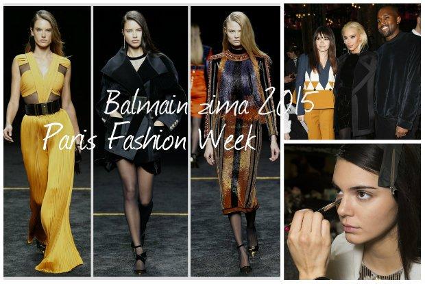 Paris Fashion Week. Balmain zima 2015. Wybieg zdominowa� total glamour w wersji retro [ZDJ�CIA Z WYBIEGU]