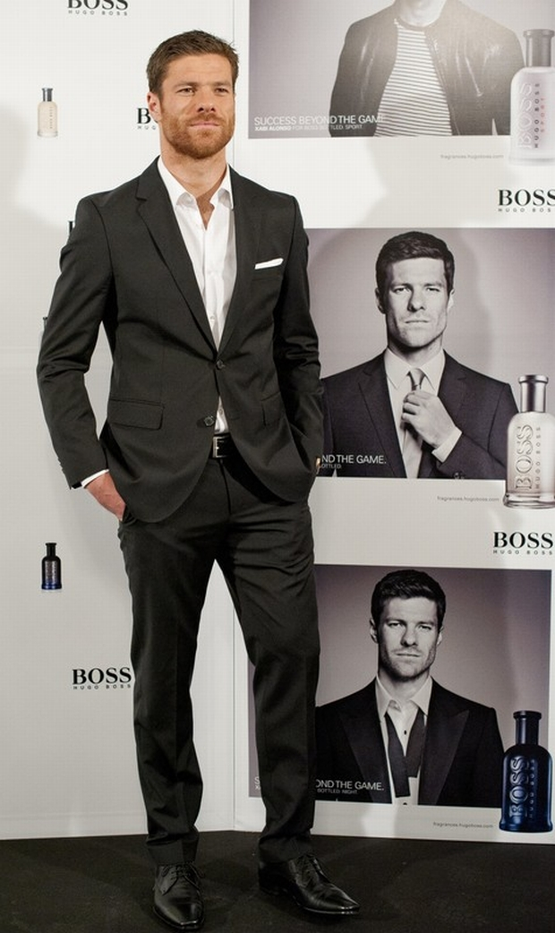 Real Madrid football player Xabi Alonso presents 'Success Beyond The Game' By Hugo Boss at Villamagna Hotel on May 14, 2012 in Madrid  (C) Astufoto