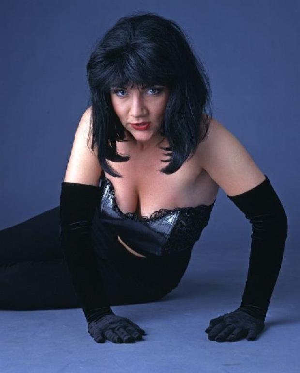 Warszawa 1995 r. Magdalena Pankowska, Shazza. fot. Magic Media / FORUM    ###ZAKAZ PUBLIKACJI W INTERNECIE###