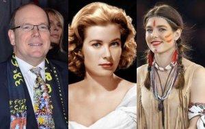 Książę Albert, Grace Kelly, Charlotte Casiraghi