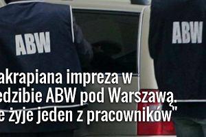 W siedzibie ABW pod Warszawą znaleziono ciało pracownika. RMF FM: Była zakrapiana impreza
