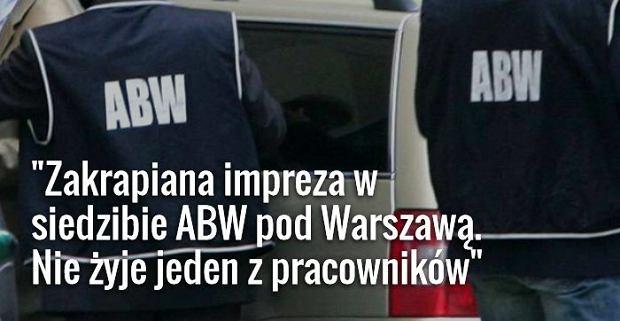 W podwarszawskiej siedzibie ABW zginął jeden z cywilnych pracowników